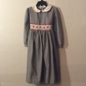Luli & meB/W hounds tooth L/S Smocked dress # 5